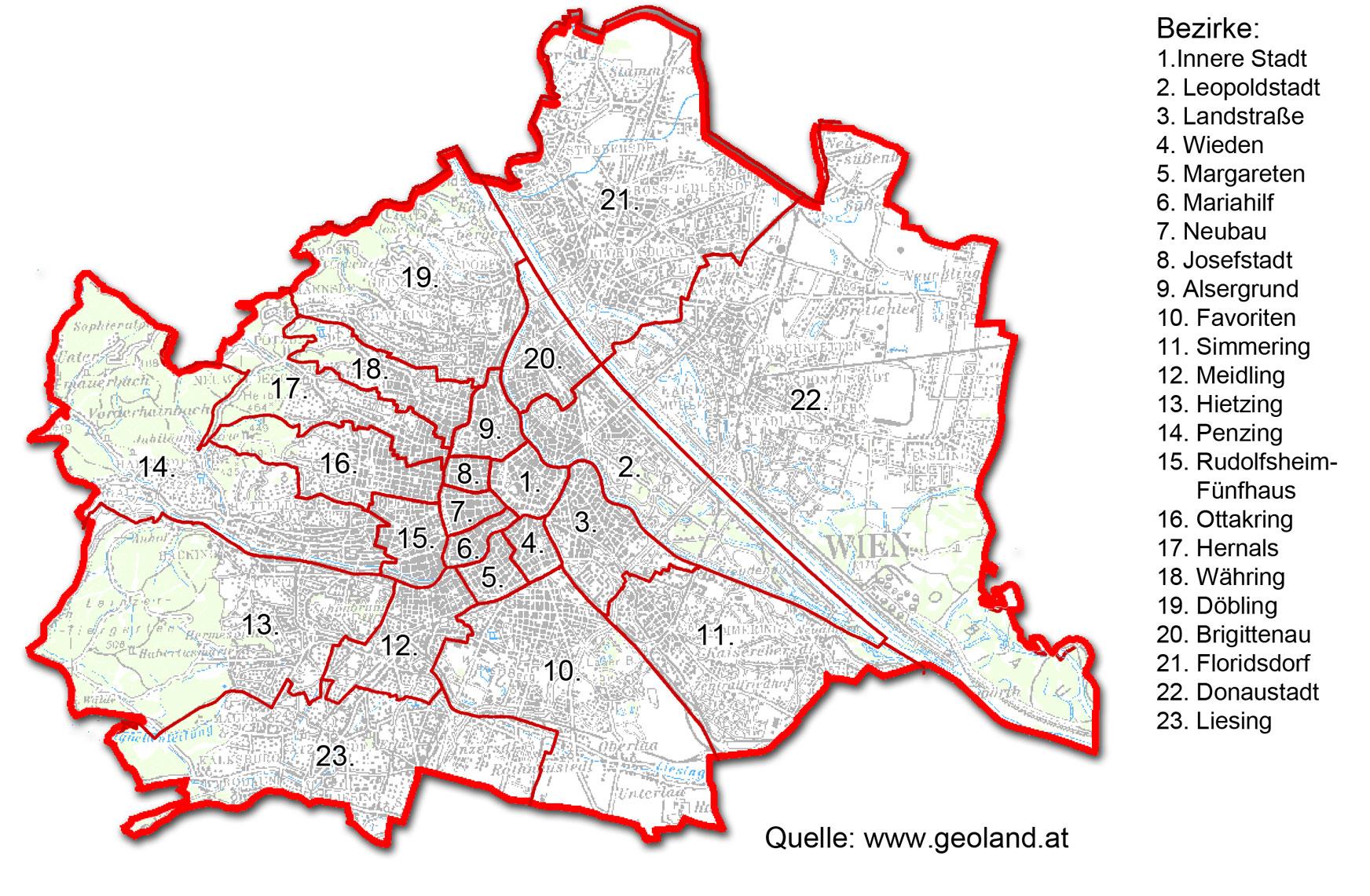 bezirke wien karte General information. : MCVienna bezirke wien karte